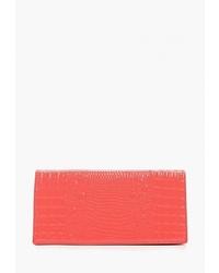 Красный кожаный клатч от D.Angeny