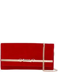 Красный кожаный клатч от Jimmy Choo