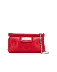 Красный кожаный клатч от Maison Margiela