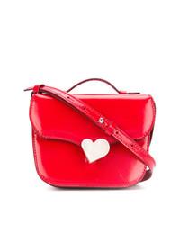 Красный кожаный клатч от Marni