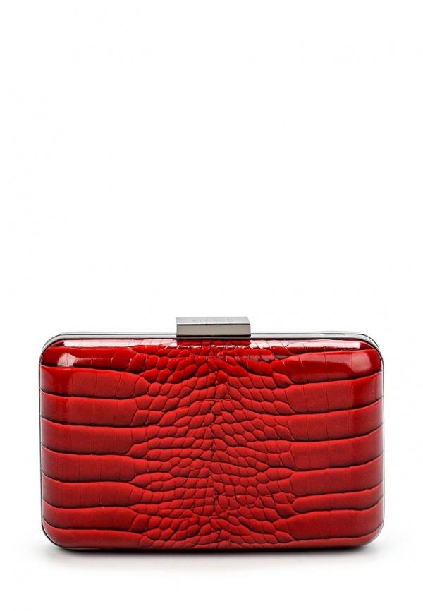 41c79ed8d38a Красный кожаный клатч от Olga Berg, 4 190 руб.   Lamoda   Лукастик