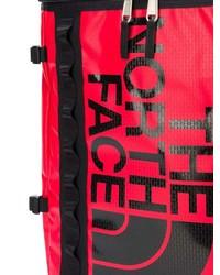 Мужской красный кожаный рюкзак с принтом от The North Face