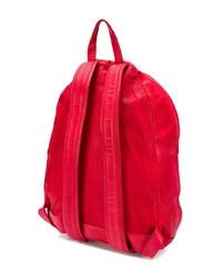 Мужской красный кожаный рюкзак от Giorgio Brato