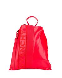 Мужской красный кожаный рюкзак от Givenchy
