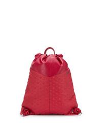 Мужской красный кожаный рюкзак от Jimmy Choo