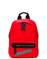 Мужской красный кожаный рюкзак от Lanvin