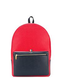 Мужской красный кожаный рюкзак от Thom Browne