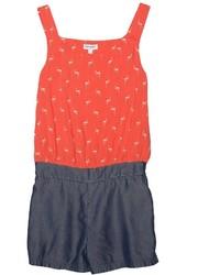 Красный комбинезон с шортами