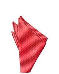 Красный нагрудный платок в горизонтальную полоску