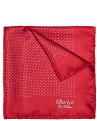 Красный нагрудный платок в горошек