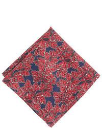 Красный нагрудный платок с принтом
