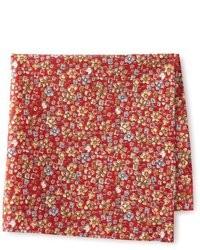 Красный нагрудный платок с цветочным принтом