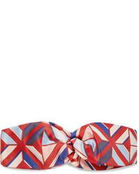 Красный ободок/повязка с принтом от Fendi