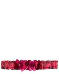 Красный ободок/повязка с цветочным принтом