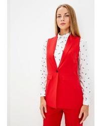 Красный пиджак без рукавов от Modis