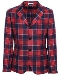 Красный пиджак в шотландскую клетку