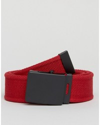 Мужской красный плетеный ремень от Asos
