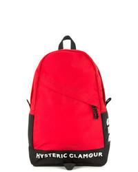 Красный рюкзак из плотной ткани