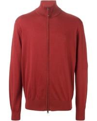 Красный свитер на молнии