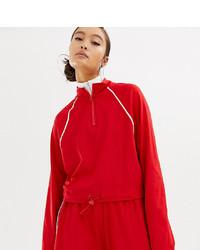 Женский красный свитер с воротником на молнии от Collusion