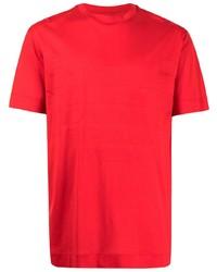 Мужской красный свитер с круглым вырезом от Emporio Armani