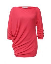 Женский красный свитер с круглым вырезом от Rinascimento