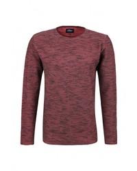 Мужской красный свитер с круглым вырезом от s.Oliver Denim