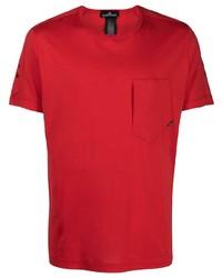 Мужской красный свитер с круглым вырезом от Stone Island Shadow Project