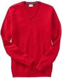красный свитер с v образным вырезом original 397800