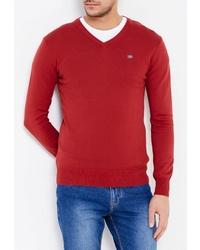 Мужской красный свитер с v-образным вырезом от Season 4 Reason