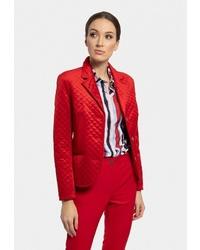 Женский красный стеганый пиджак от Vladi Collection