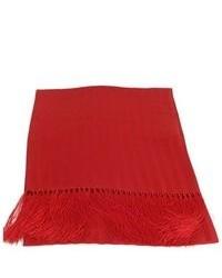 Красный хлопковый шарф