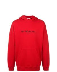 Мужской красный худи с принтом от Givenchy