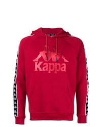 Мужской красный худи с принтом от Kappa