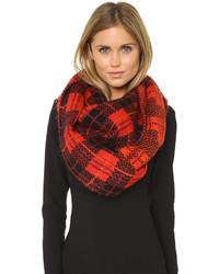 Женский красный шарф в шотландскую клетку от Kate Spade