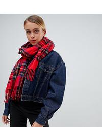 Женский красный шарф в шотландскую клетку от My Accessories