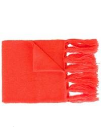 Детский красный шарф для девочке