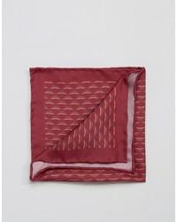 Мужской красный шелковый нагрудный платок с принтом от Original Penguin