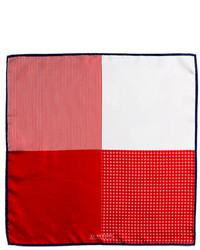 Красный шелковый нагрудный платок