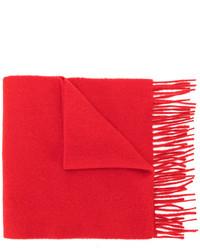 Мужской красный шерстяной вязаный шарф от Pringle