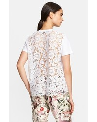кружевная блуза с коротким рукавом original 4107094