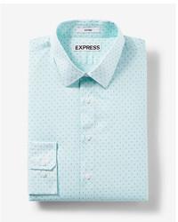 Мятная классическая рубашка с принтом