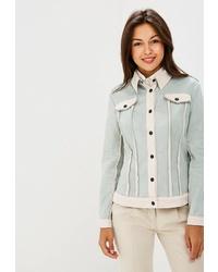 Женская мятная куртка-рубашка от Tantino