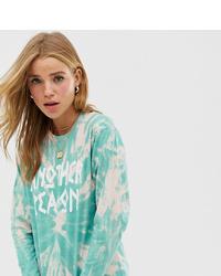 Женская мятная футболка с длинным рукавом с принтом тай-дай от Another Reason