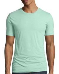 Мятная футболка с круглым вырезом