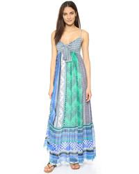 Мятное шифоновое платье-макси