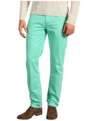 Мятные брюки чинос