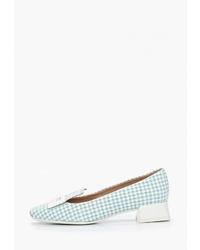 Мятные замшевые туфли от Geox