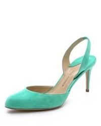 Мятные замшевые туфли от Paul Andrew