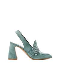Мятные замшевые туфли от Premiata